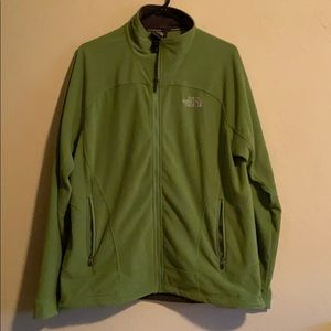 North Face zip up green